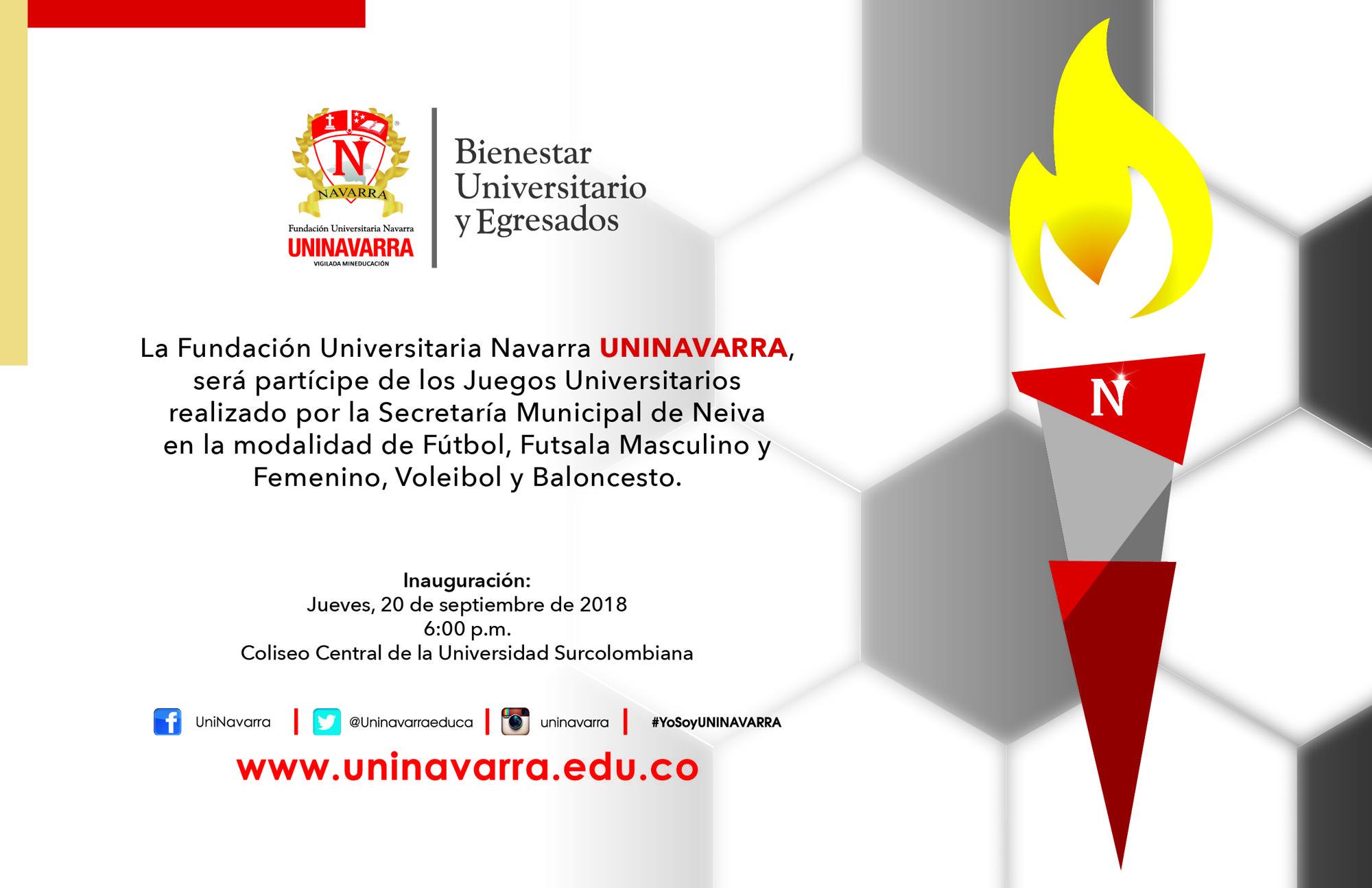 Participacion De Los Juegos Universitarios 2018 Uninavarra